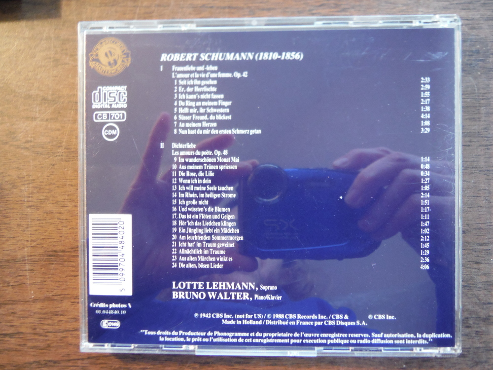 Image 1 of Lot of 4 CDs of music by Schumann.