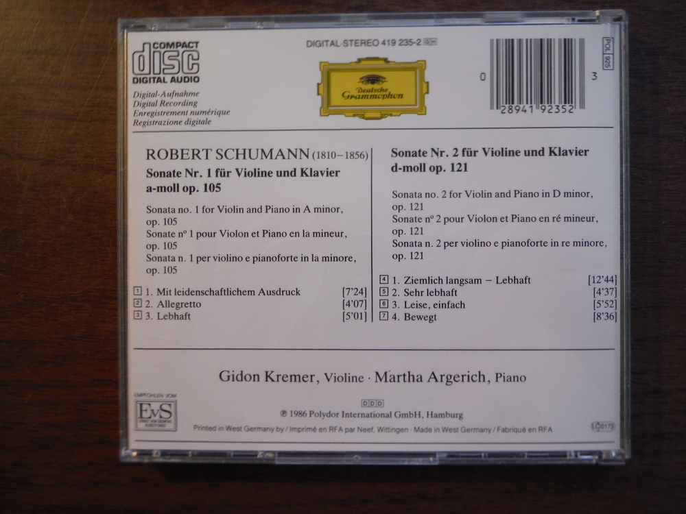 Image 2 of Lot of 4 CDs of music by Schumann.