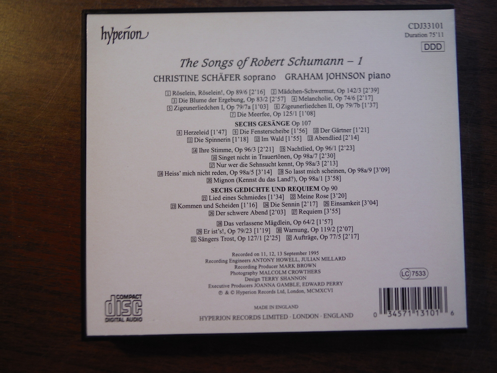 Image 4 of Lot of 4 CDs of music by Schumann.