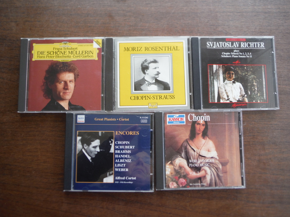Lot of 5 CDs of music  by Schubert and Chopin.