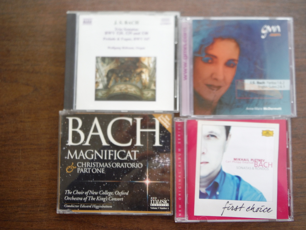 Lot of 4 CDs of music by JS Bach