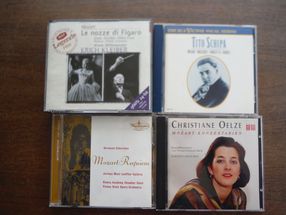 Lot of 4 CD sets  of music by Mozart