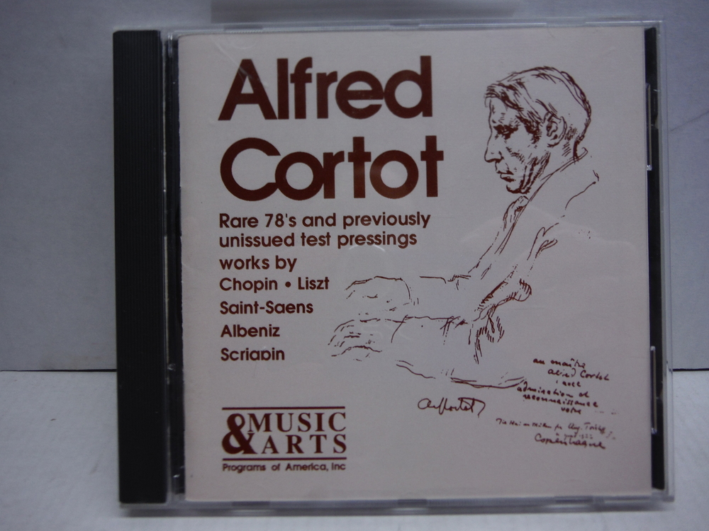 Alfred Cortot Rare 78's and Previously Unissued Test Pressings