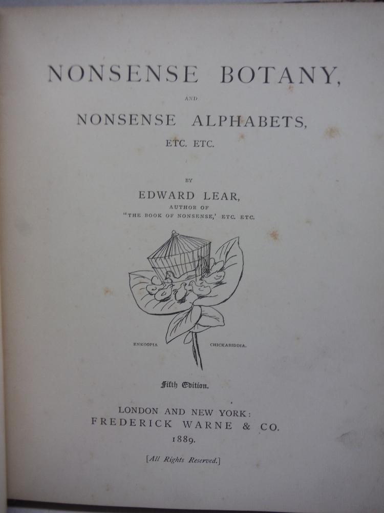 Image 1 of Nonsense Botany and Nonsense Alphabets