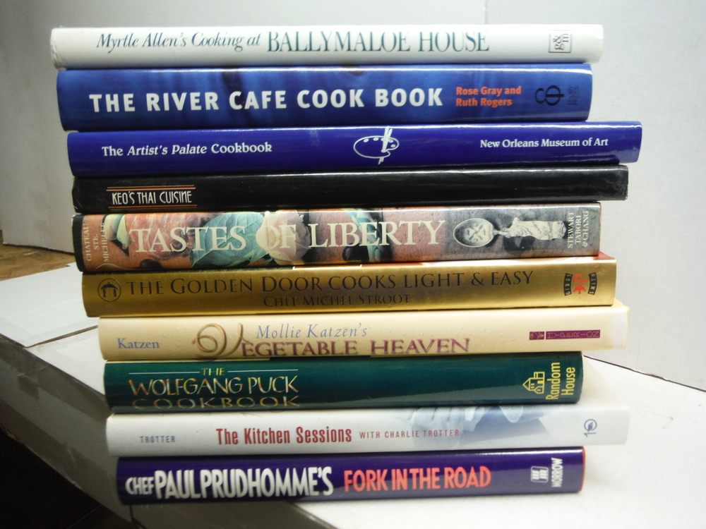 Ten Cookbooks from Master Chefs - hardbound