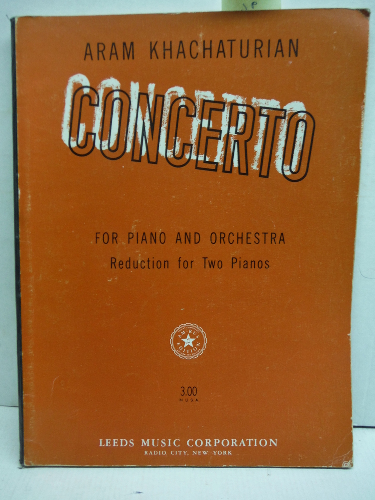 Concerto for Piano and Orchestra: Reduction for Two Pianos