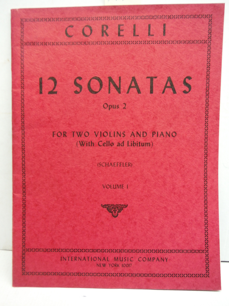 Image 0 of 12 Sonatas Opus 2: For Two Violins and Piano (With Cello Ad Libitum) Volume I