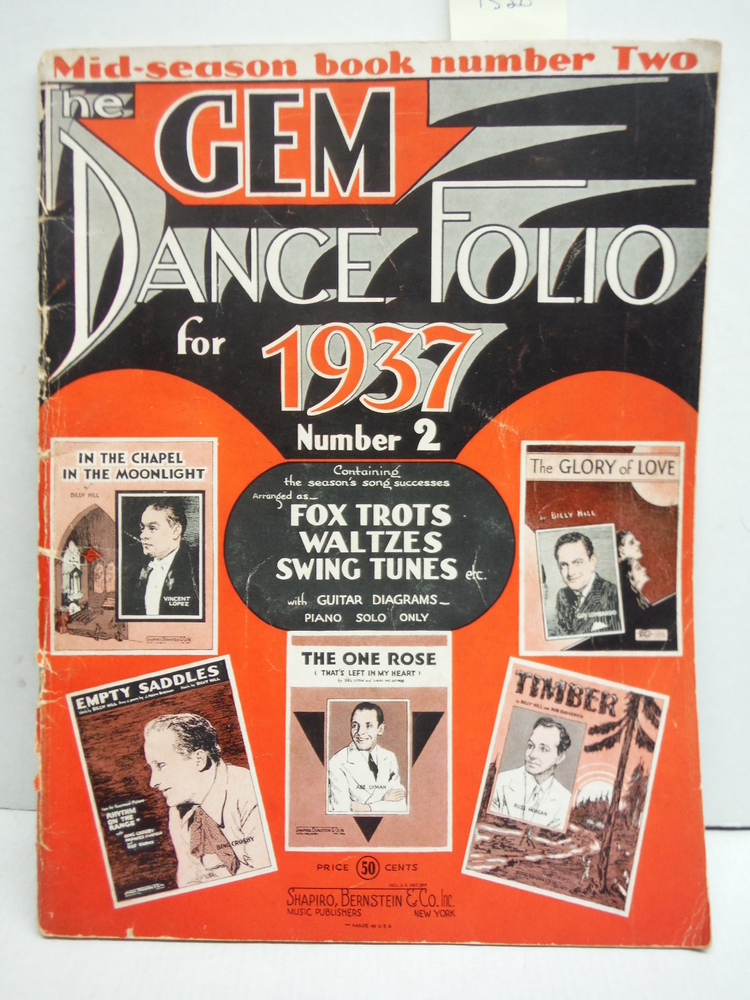 The Gem Dance Folio for 1937, No. 2 - Mid-Season Book Number Two
