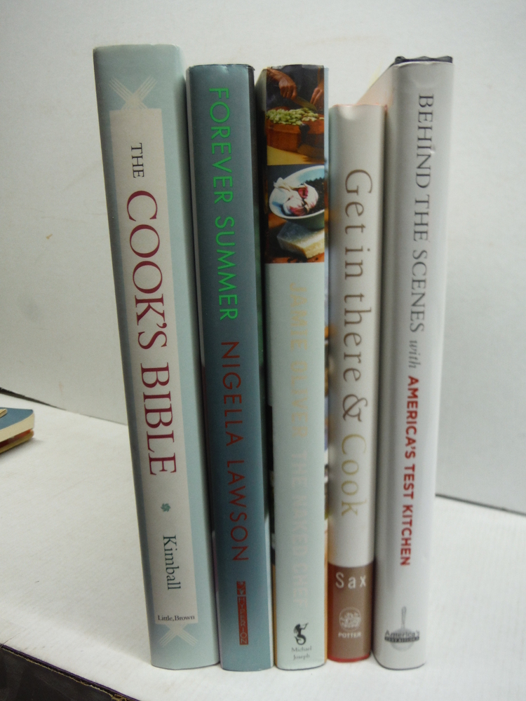 Five Fine  Celebrity Chef Harbdound Cookbooks
