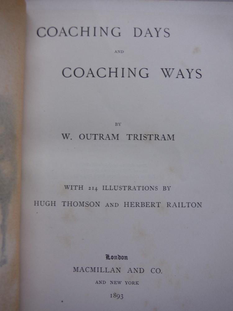 Image 1 of Coaching Days and Coaching Ways