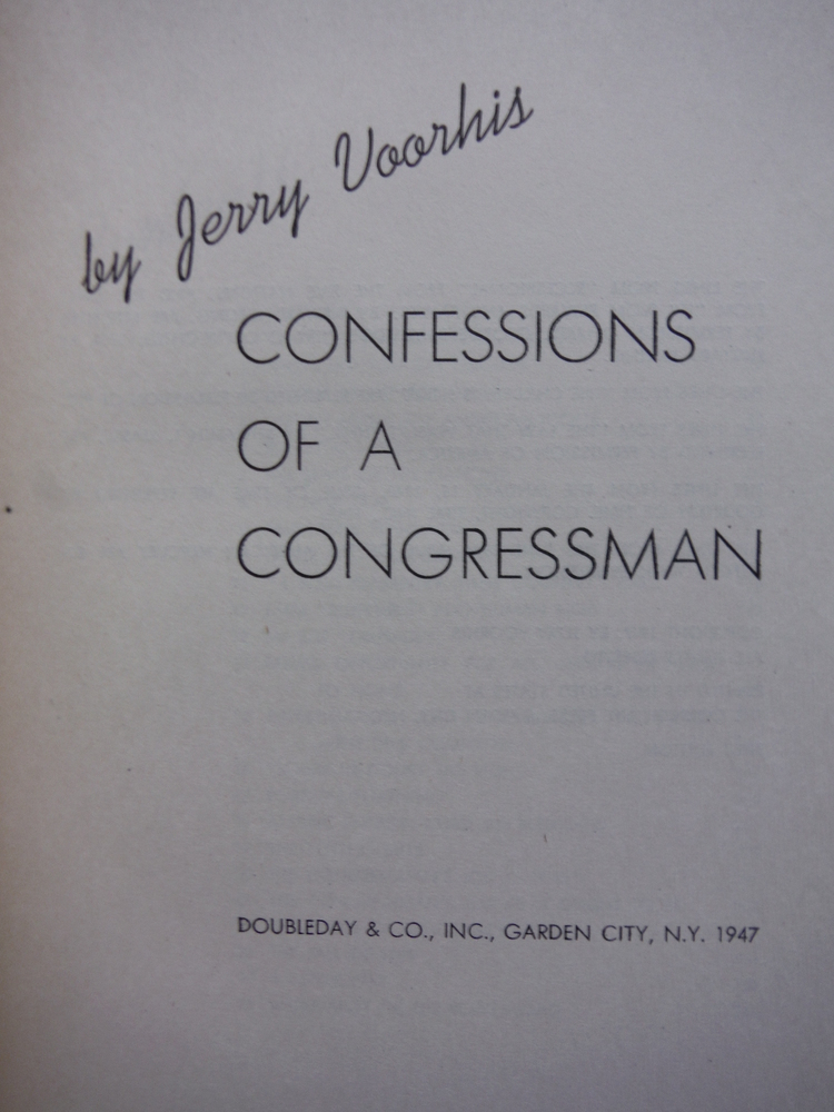 Image 1 of Confessions of a congressman