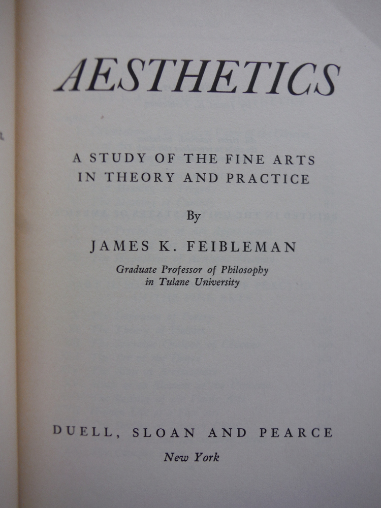 Image 1 of Aesthetics: a study of the fine arts in theory and practice