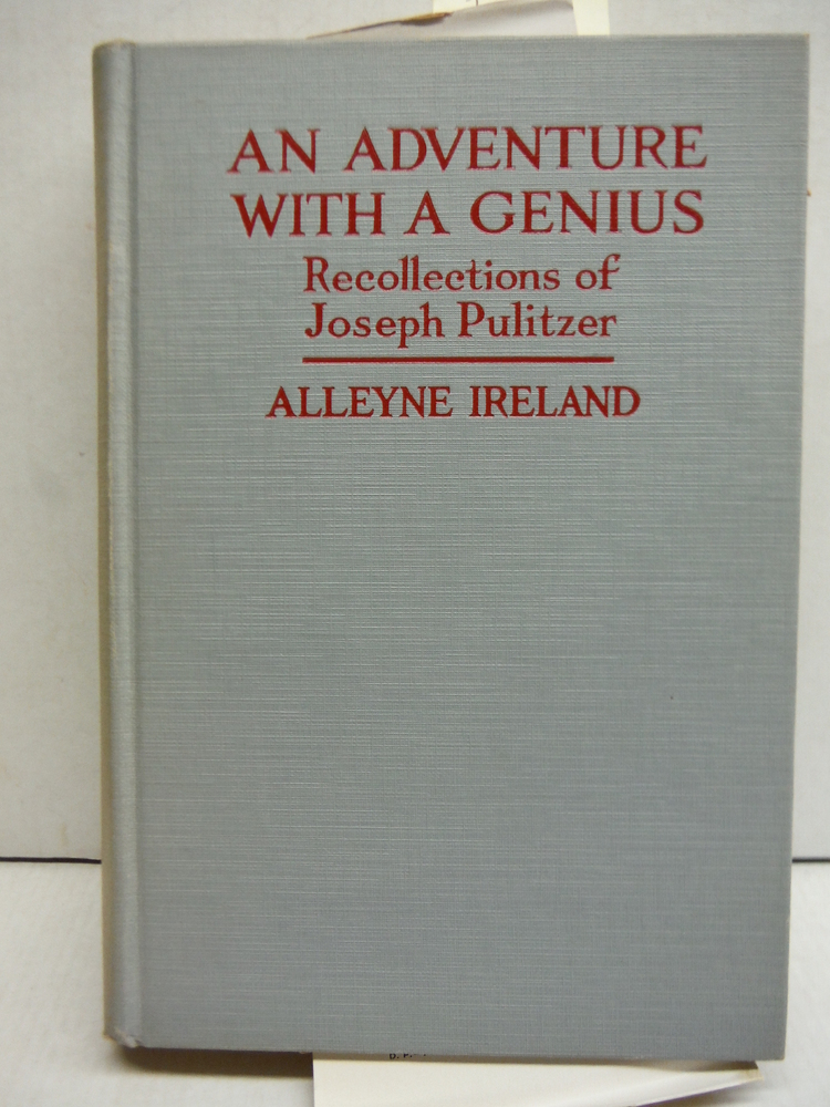 Image 0 of An Adventure with a Genius : Recollections of Joseph Pulitzer.
