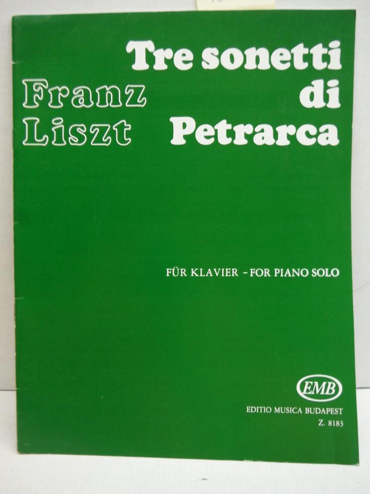 EMB (Editio Musica Budapest) LISZT F. - SONETTI DI PETRARCA (3) - PIANO Partitio