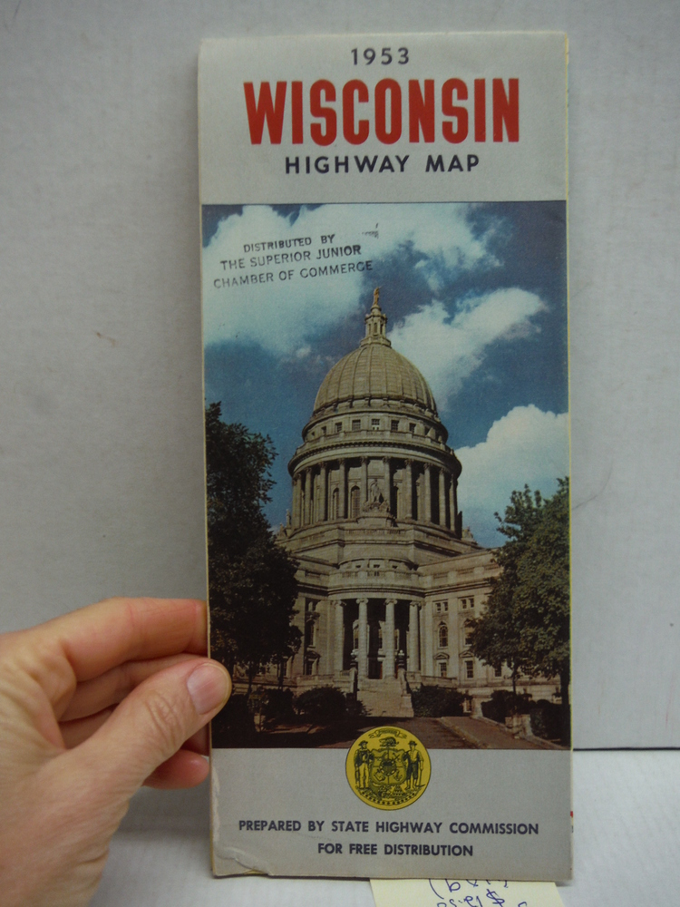 1953 Wisconsin Official Highway Map