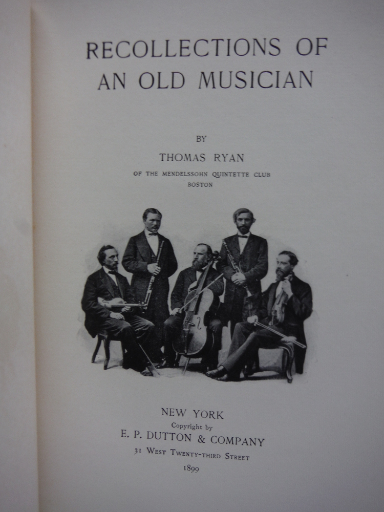 Image 1 of Recollections of an Old Musician