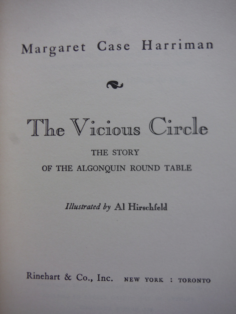 Image 1 of The Vicious Circle: The story of the Algonquin Round Table