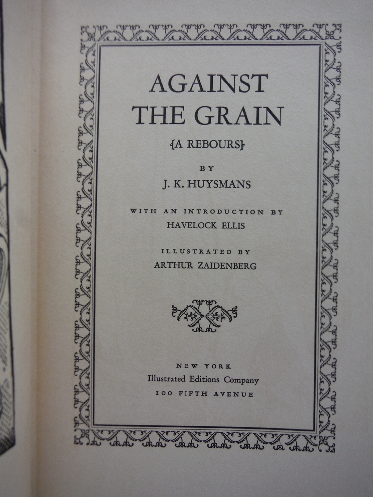 Image 1 of Against the Grain: A Rebours