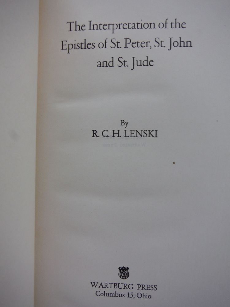 Image 1 of The interpretation of the Epistles of St. Peter, St. John and St. Jude