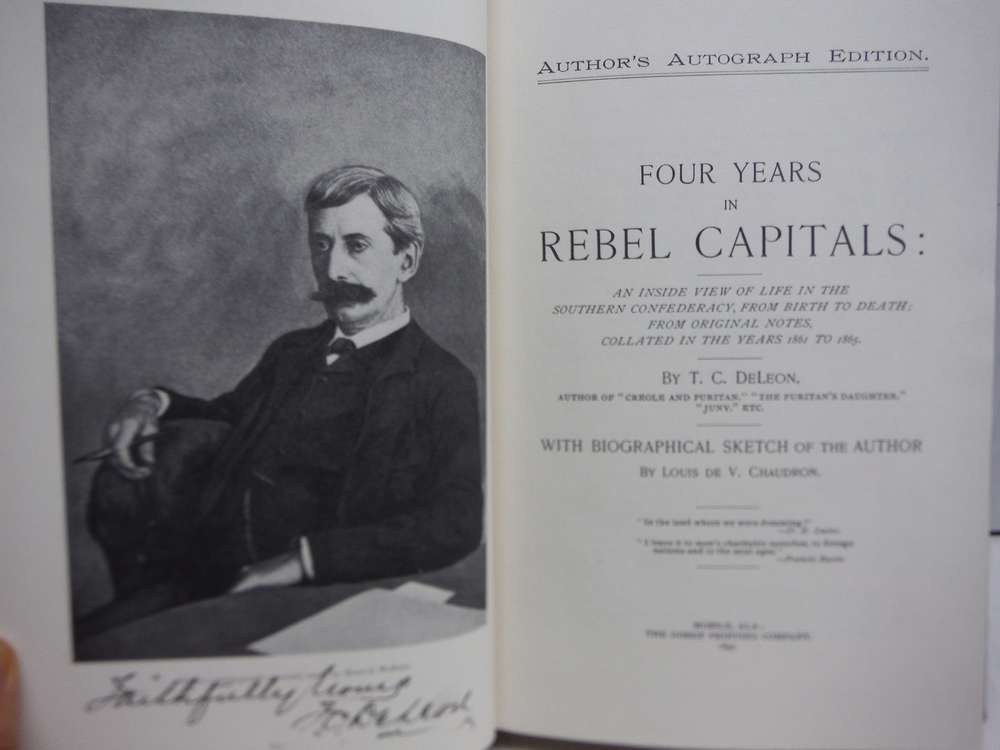 Image 2 of Four years in rebel capitals: An inside view of life in the Southern Confederacy