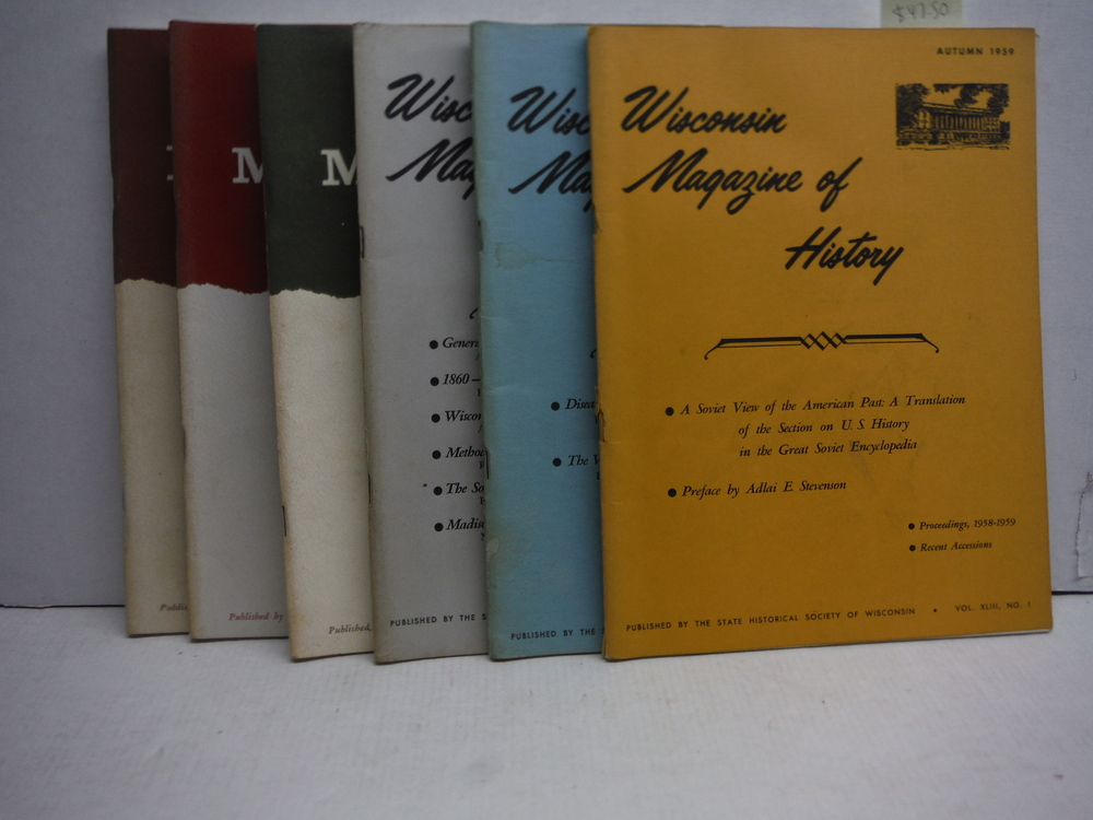 Wisconsin Magazine of History 1959-1961 (6 Issues)
