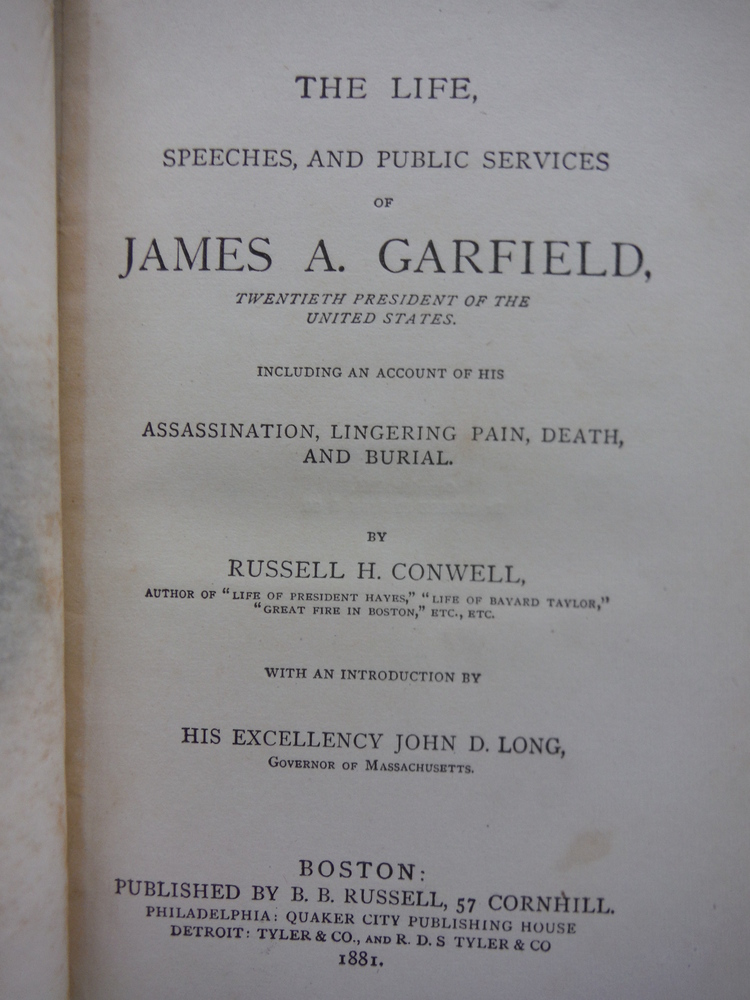 Image 1 of The life, speeches, and public services of James A. Garfield