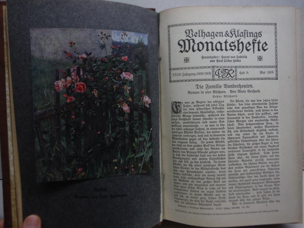 Image 1 of Velhagen & Klasings Monatshefte - XXIII Jahrgang 1908/1909 -1. Band