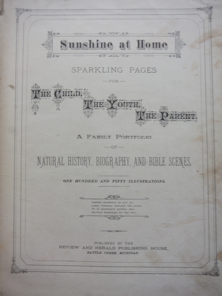Image 1 of Sunshine At Home - Sparkling Pages For The Child, The Youth, The Parent. Family