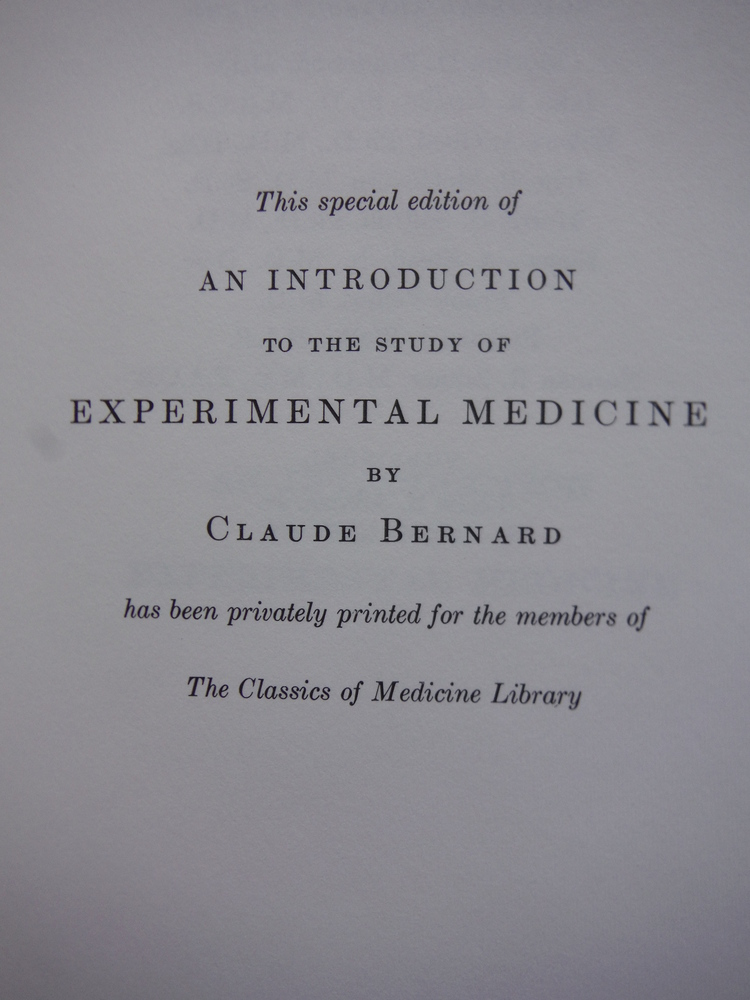 Image 2 of  An Introduction to the study of Experimental Medicine