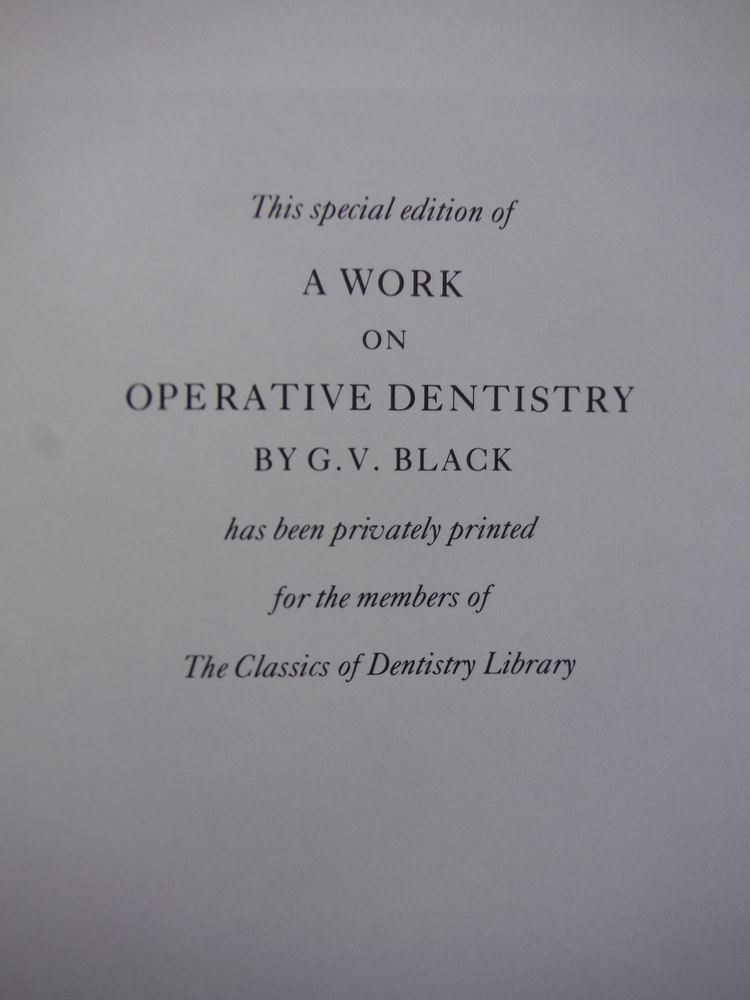 Image 1 of A work on operative dentistry / By G. V. Black. [complete in 2 volumes]