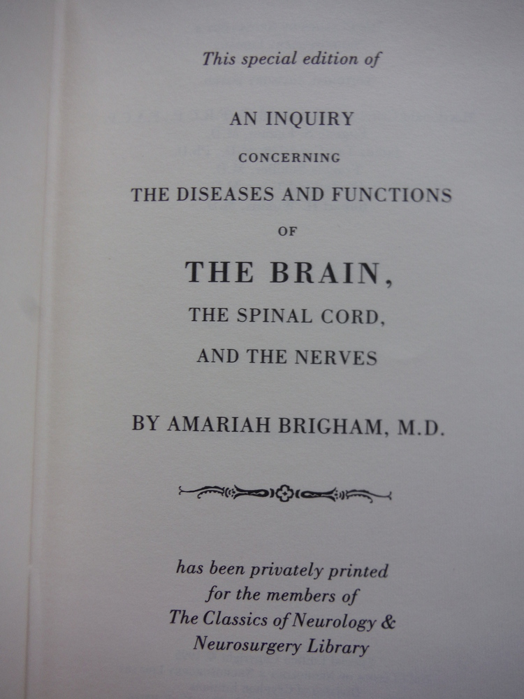 Image 1 of AN INQUIRY CONCERNING THE DISEASES AND FUNCTIONS OF THE BRAIN, THE SPINAL CORD,
