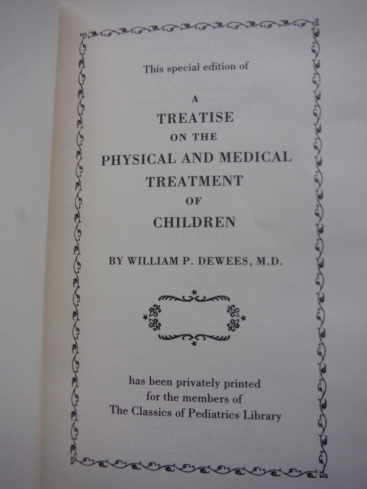 Image 1 of A Treatise on the Physical and Medical Treatment of Children