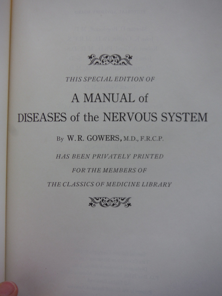 Image 1 of A Manual of Disease of the Nervous System