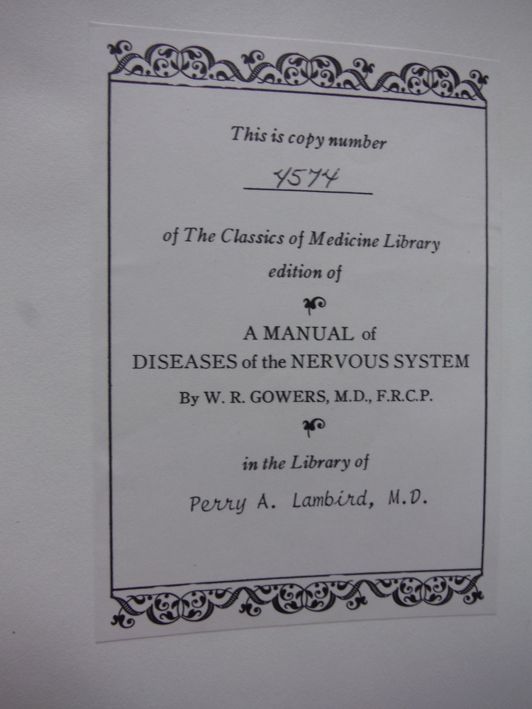 Image 2 of A Manual of Disease of the Nervous System