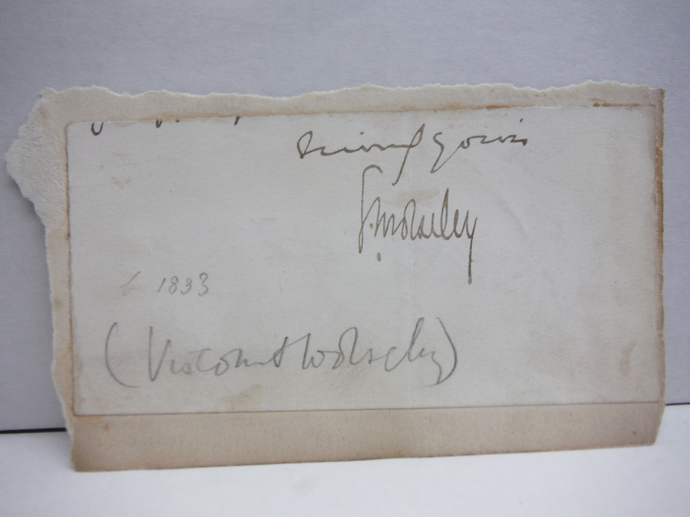 ORIGINAL SIGNATURE OF GARBET, VISCOUNT WOLSELEY