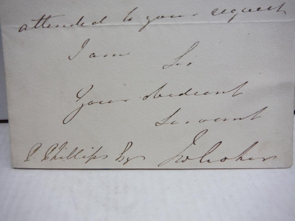 1821 JOHN WATSON CROKER HANDWRITTEN SIGNED LETTER