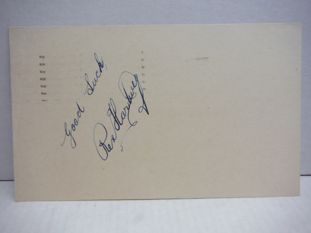 Image 0 of 1954: REX  HARTWIG - TENNIS STAR AUTOGRAPH