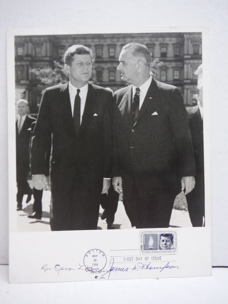 Image 0 of 1964: PHOTOGRAPH OF JFK & LBJ SIGNED BY JAMES R. THOMPSON