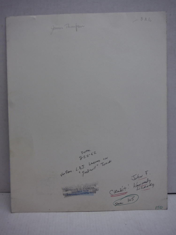Image 1 of 1964: PHOTOGRAPH OF JFK & LBJ SIGNED BY JAMES R. THOMPSON