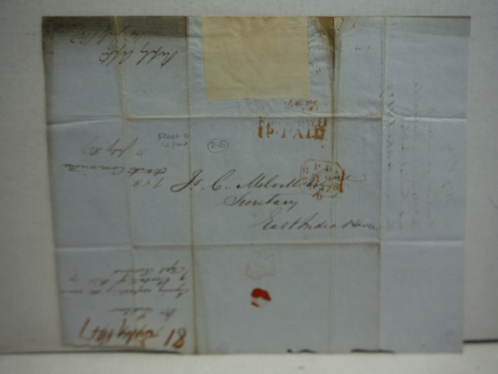Image 3 of 1847: EAST INDIA HOUSE LETTER REGARDING PAYMENT TO DECEASED SOLDIER OF BENGAL AR