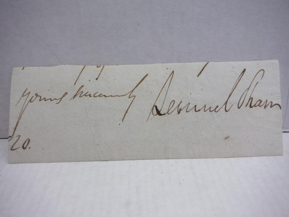 1820: LEMUEL SHAW - CHIEF JUSTICE MASSACHUSETTS SUPREME COURT