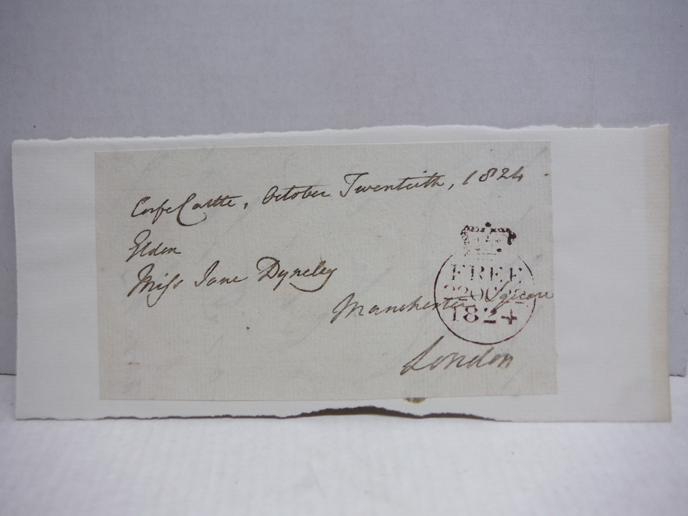 1824: JOHN SCOTT ENGLISH JURIST AUTOGRAPH