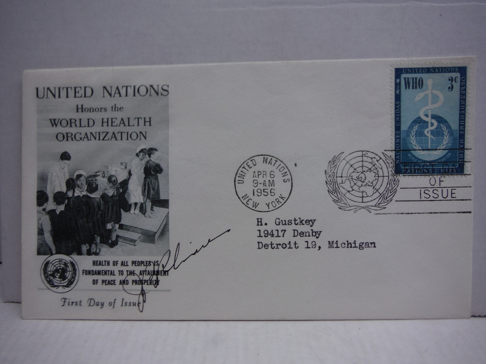 1956: JOSEPH BANKS RHINE SIGNED FIRST DAY COVER