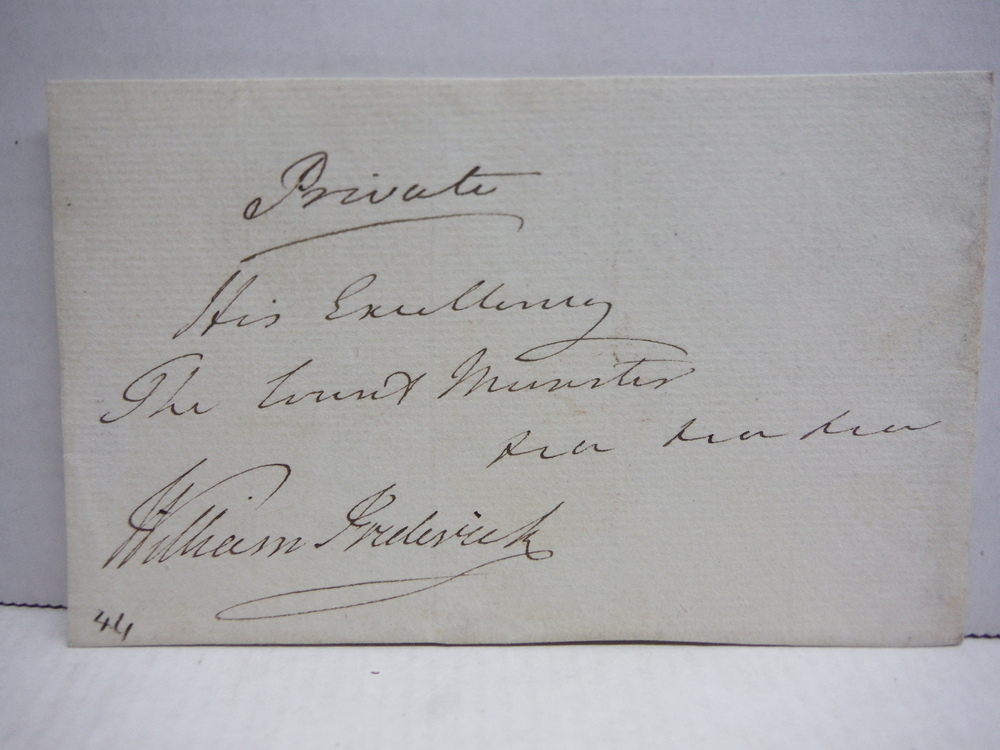 WILLIAM FREDERICK, DUKE OF GLOUSTER, N IN LAW OF GEORGE III - AUTOGRAPH
