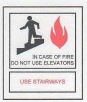 Image 0 of FSICF-335-A IN CASE OF FIRE SIGN 3X3.5