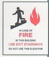 Image 0 of FSICF-335-D IN CASE OF FIRE SIGN 3X3.5