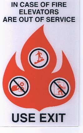 Image 0 of FSICF-58-A IN CASE OF FIRE SIGN 5X8