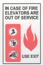 Image 0 of FSICF-58-B IN CASE OF FIRE SIGN 5X8