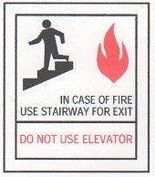 Image 0 of FSICF-67-B IN CASE OF FIRE SIGN 6X7