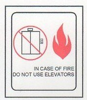 Image 0 of FSICF-67-C IN CASE OF FIRE SIGN 6X7